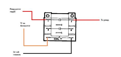 how do i wire a honeywell r4222 d 1013 dpdt relay to operate my ciculators from my themostats