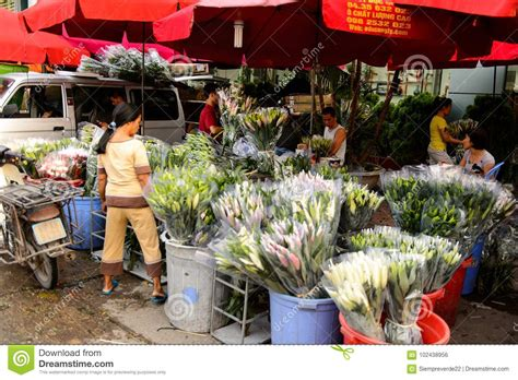 Flower Market Editorial Photo Image Of Person Colour