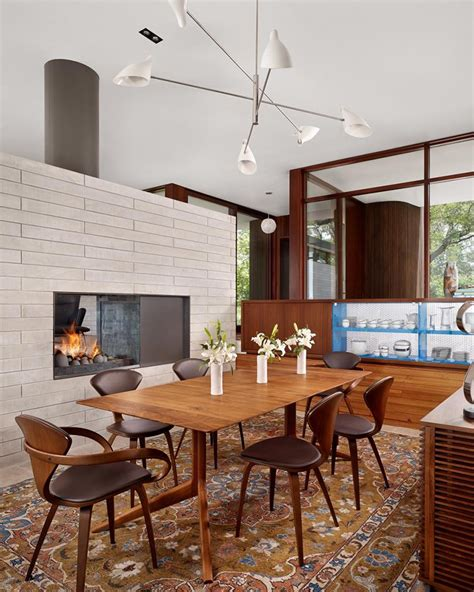 Dining Rooms by 22 Sided Fireplaces In Dining Rooms Home Design Lover