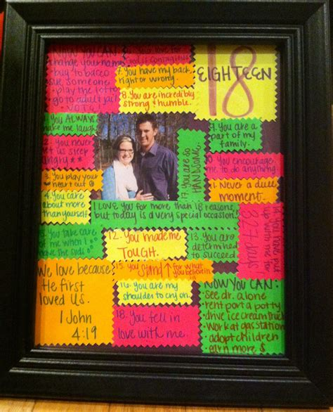 birthday present  picture   frame