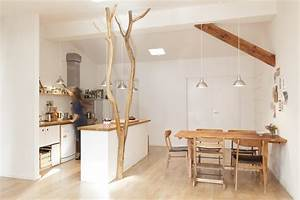 Baumstamm An Decke Befestigen : flur mit natur badabaum ~ Lizthompson.info Haus und Dekorationen