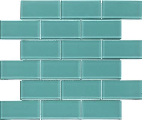Subway Glass Tile Turquoise 2x4   Mineral Tiles