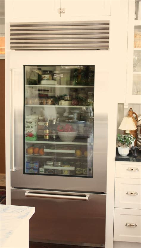 refrigerator with glass door for the of a house the glass door refrigerator