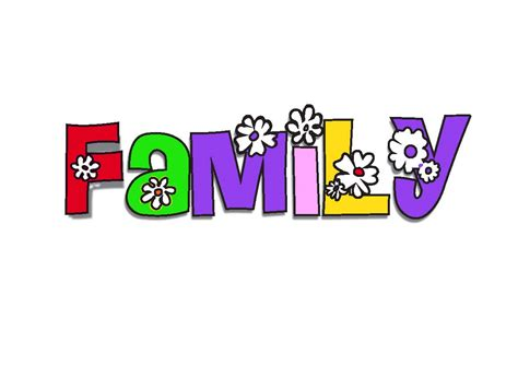 words clipart 20 x my family school clipart