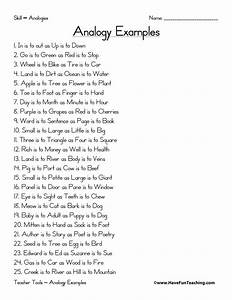 Analogy Word List - Have Fun Teaching