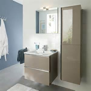 meuble sous vasque 40 cm profondeur 14 meuble de salle de bains taupe 61 cm hola castorama