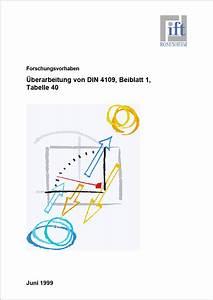 Din 4109 Türen : forschungsbericht berpr fung und erweiterung der tabelle ~ Lizthompson.info Haus und Dekorationen
