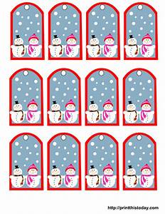 free printable snowman christmas gift tags With how to print on gift tags