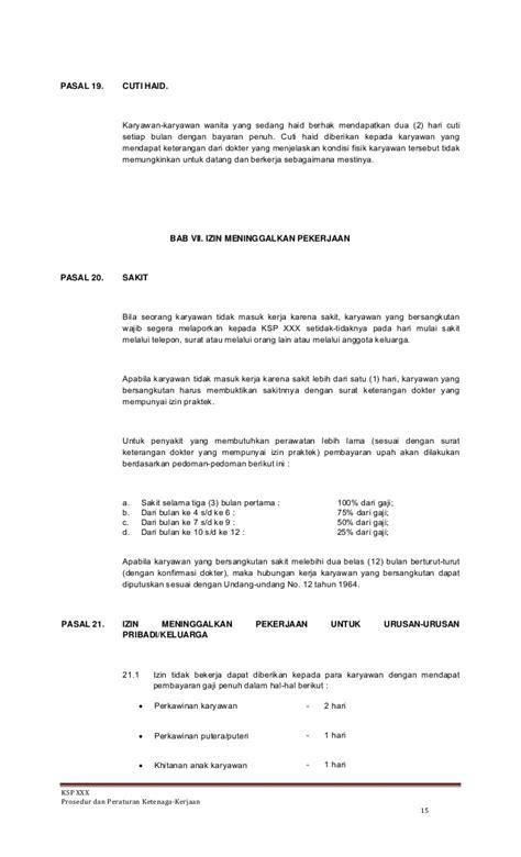 contoh surat teguran operasional prosedur standar operasional