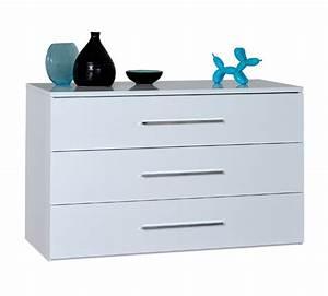 Grande Commode Blanche : commode 3 tiroirs first blanche blanc brillant ~ Teatrodelosmanantiales.com Idées de Décoration