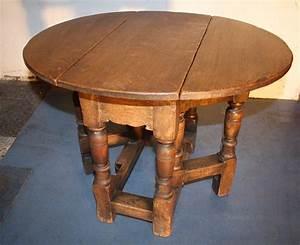 Oak, Small, Jacobean, 1920s, Drop, Leaf, Coffee, Table