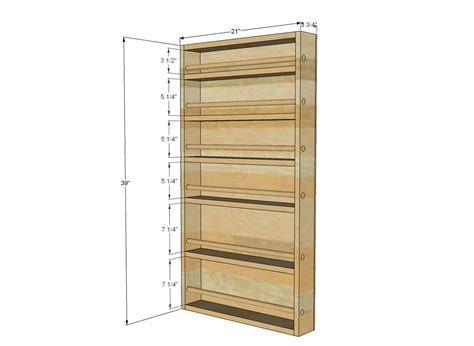 Cabinet Spice Rack Plans by Build A Spice Rack Plans Pdf Woodworking
