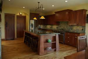 kitchens islands with seating white oak residence craftsman kitchen milwaukee by