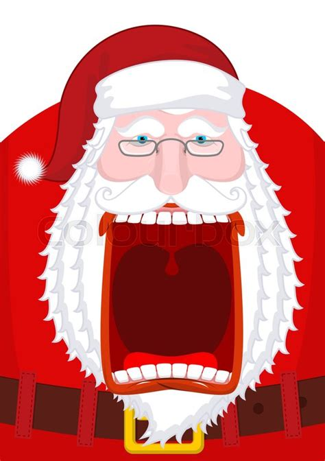 angry santa claus shouts scary stock vector colourbox