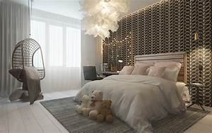Dark themed kids rooms for Elegant modern bedroom for girls