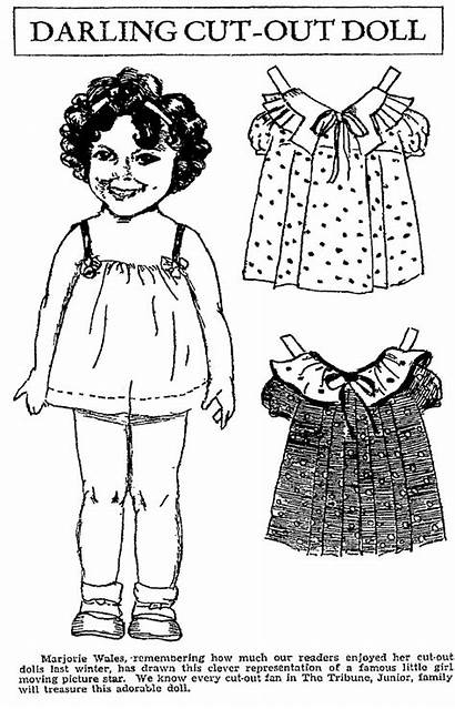 Temple Shirley Paper Dolls Doll Coloring Printable