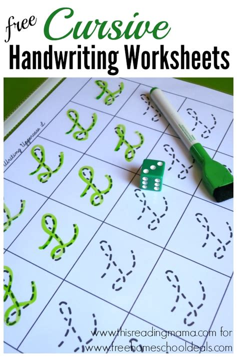 Free Cursive Handwriting Worksheets (instant Download)  Free Homeschool Deals