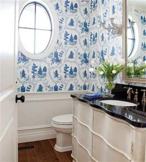 blue bathroom wallpaper  wallpapersafari