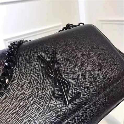 top quality yves saint laurent black logo shoulder bag