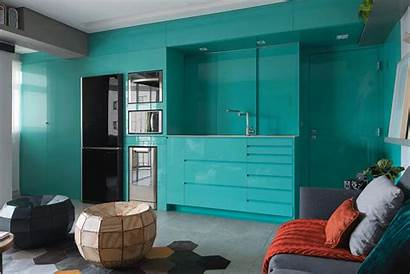 Kitchen Apartment Bright Before Contemporist Modern Manu