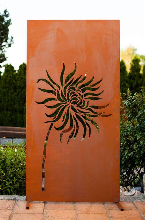 """Garten im Quadrat  Moderne SichtschutzWand """"Löwenzahn"""