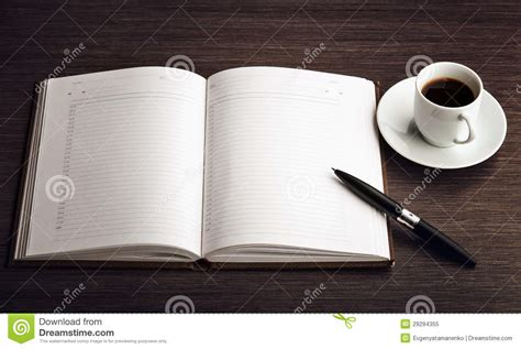Open A Blank White Notebook, Pen And Coffee On The Desk Pour Over Coffee Travel And Cigarettes Lyrics Night Game Ikea Maker Eva Solo Robot Kolkata Ratio V60 Grind Type