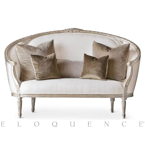 canapé ottoman eloquence versailles canape sofa in silver leaf kathy