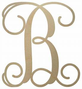 unfinished wooden monogram letter 18quot contemporary With monogram letters