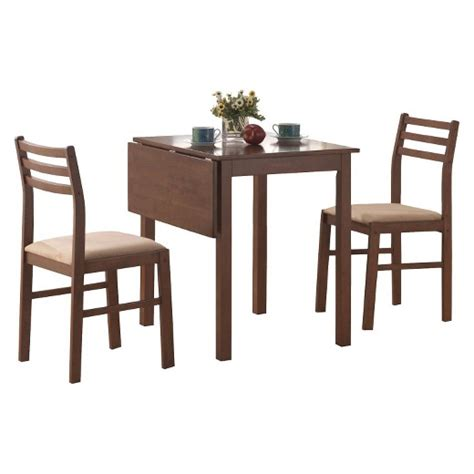 dining table and chairs 3 set walnut everyroom