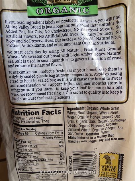 alpine valley organic bread