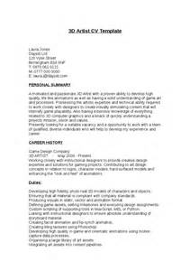 resume templatesart resume templates 3d artist cv template hashdoc