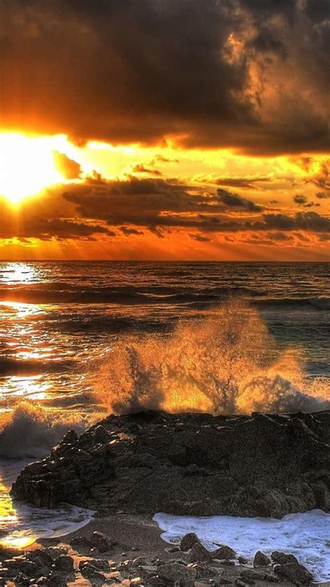 480x854 Beach Sea And Sunset Samsung Galaxy Wallpapers Hd