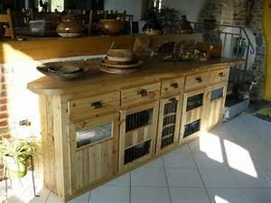 Meuble De Cuisine En Palette : palettes en bois id es de bricolage de meubles ~ Dode.kayakingforconservation.com Idées de Décoration