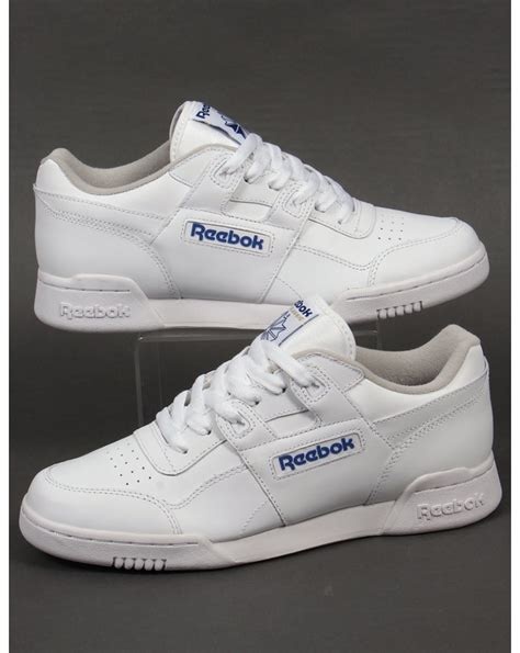 reebok workout plus trainers white 80s casual classics