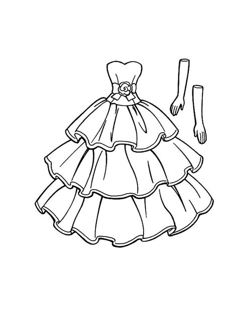 barbie doll  dress   garden coloring pages coloring sky
