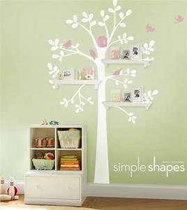 Wall decor and shelving tree baby nursery home lilys