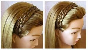 Coiffure Tresse Facile Cheveux Mi Long : tuto coiffure simple et rapide tresse serre t te cheveux ~ Melissatoandfro.com Idées de Décoration