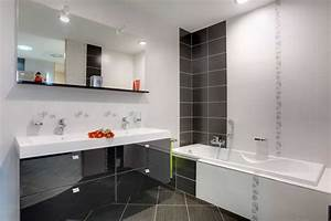 photos decoration salle de bain moderne classe primaire With salle de bain design avec salle de séjour décoration