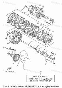 Yamaha Motorcycle 2000 Oem Parts Diagram For Clutch