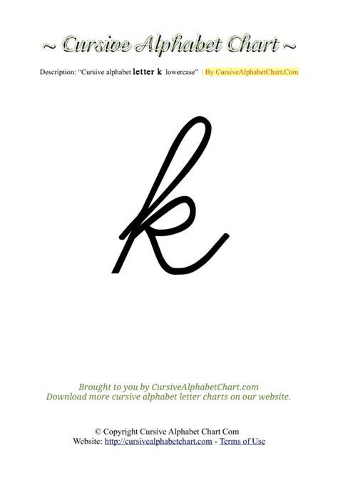 Cursive Alphabet Charts A  Z Lowercase  Cursive Alphabet Chartcom