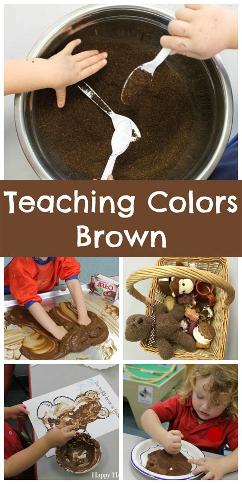 how to teach colors teaching colors brown teaching preschool teaching