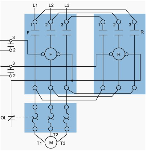 Plc Implementation Forward Reverse Motor Circuit With