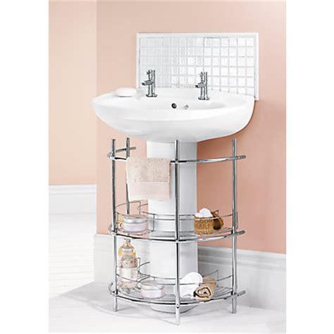 the sink 2 tier bathroom storage unit chrome
