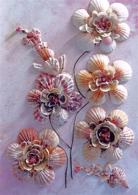 how to make seashell flowers shell flowers by karin kelshall best crafts shell pinterest shell flowers shell and