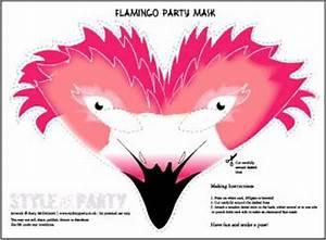 flamingo party flamingos and party masks on pinterest With flamingo beak template