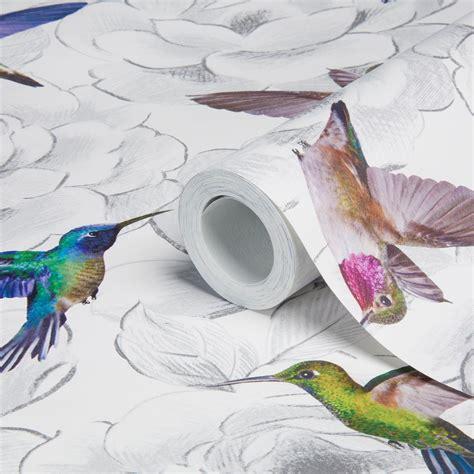 aruba floral birds wallpaper departments diy  bq