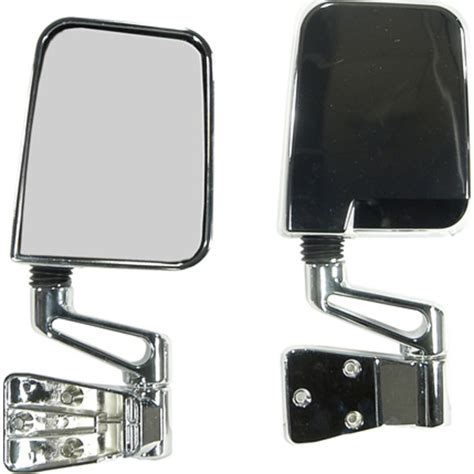 jeep wrangler side mirrors doors crown automotive 82200834ck chrome side mirrors for 87 02