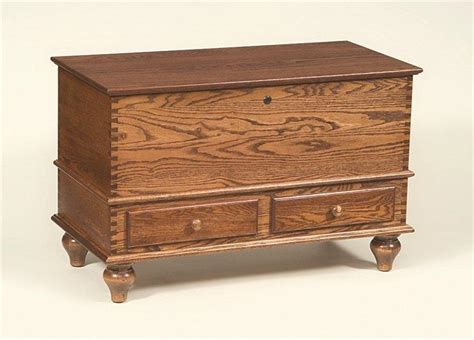 oak wood kingston hope chest  tulip feet