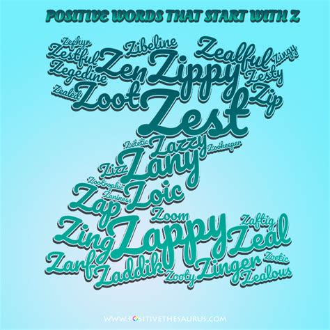 adjectives that start with the letter y zen list of positive adjectives that start with z 20398 | positive words that start with z letter word cloud