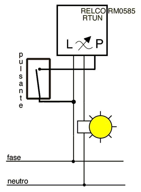 schema impianto a rele fare di una mosca